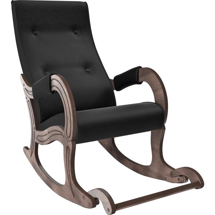 Фото - Кресло-качалка Мебель Импэкс Модель 707 орех антик,к/з Vegas lite black кресло качалка мебель импэкс модель 707 венге к з vegas lite amber