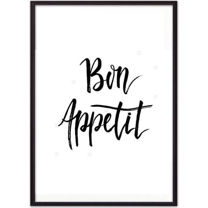 Постер в рамке Дом Корлеоне Bon appetit 30x40 см