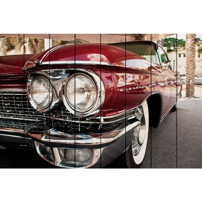 Картина на дереве Дом Корлеоне Cadillac Eldorado 80x120 см