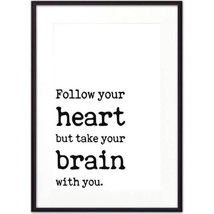 Постер в рамке Дом Корлеоне Follow your heart... 50x70 см