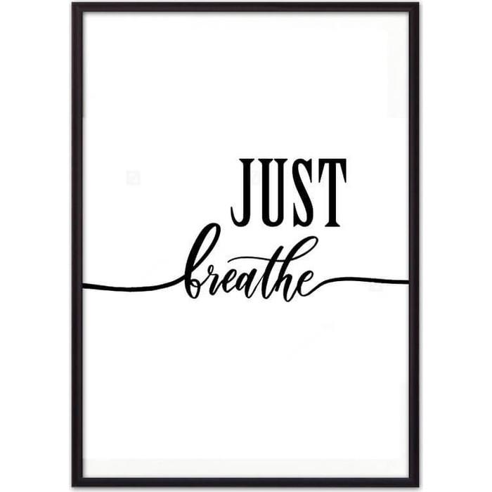 Постер в рамке Дом Корлеоне Just breathe 30x40 см