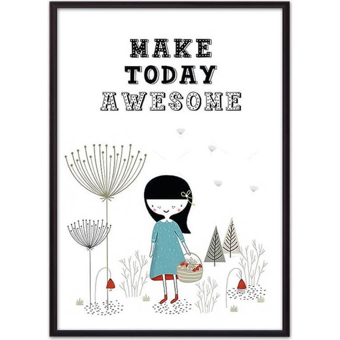 Постер в рамке Дом Корлеоне Make today awesome 30x40 см