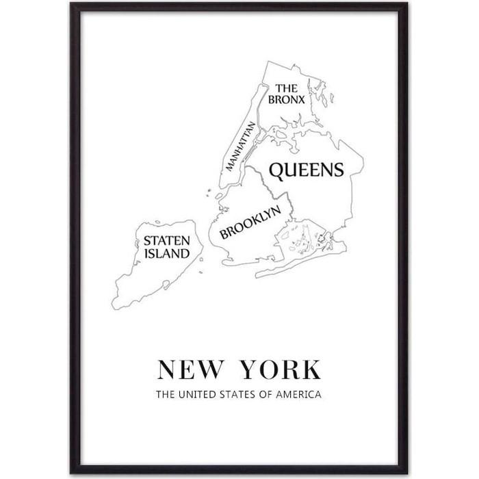 Постер в рамке Дом Корлеоне New York карта 30x40 см