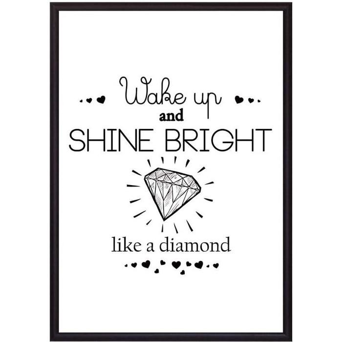 Постер в рамке Дом Корлеоне Shine bright! 40x60 см