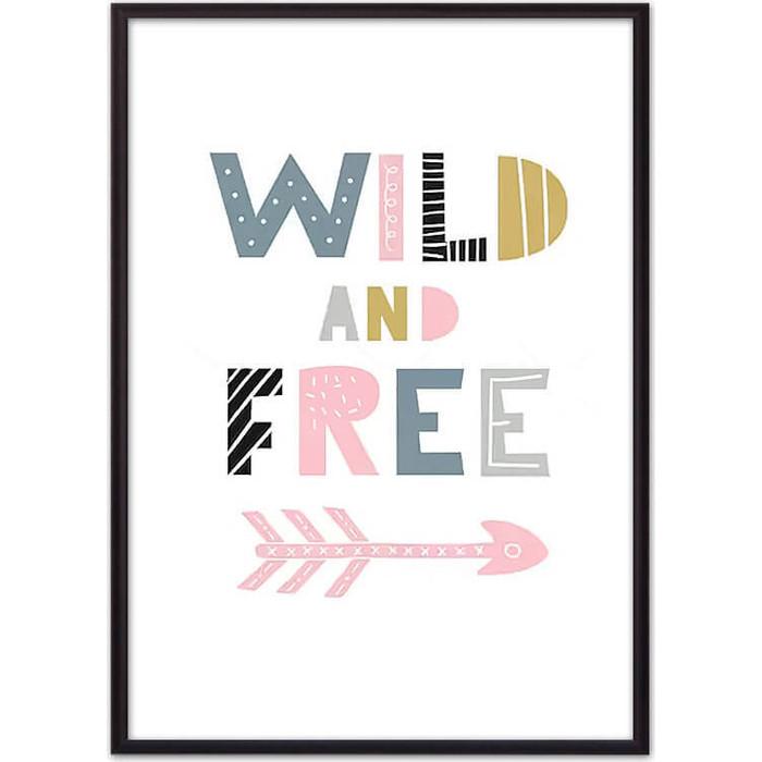 Постер в рамке Дом Корлеоне Wild & Free 40x60 см