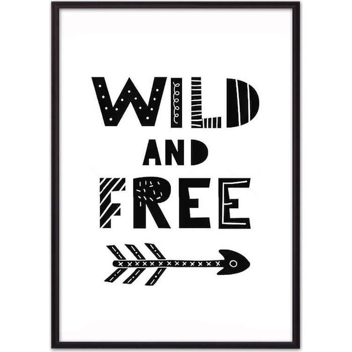Постер в рамке Дом Корлеоне Wild & Free ЧБ 50x70 см