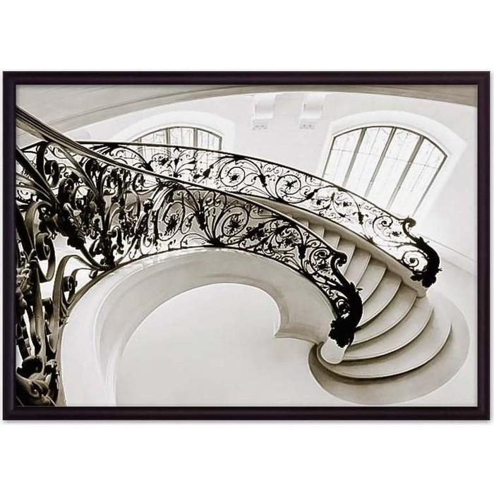 Постер в рамке Дом Корлеоне Ажурная лестница 50x70 см
