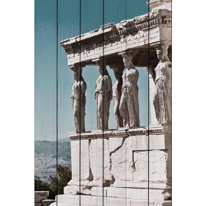 Картина на дереве Дом Корлеоне Акрополь Афины 40x60 см