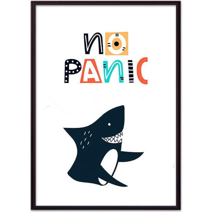 Постер в рамке Дом Корлеоне Акула No panic 50x70 см
