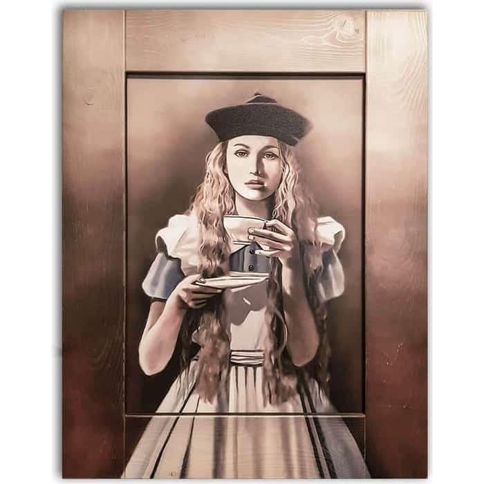 Картина с арт рамой Дом Корлеоне Алиса в стране чудес 60x80 см