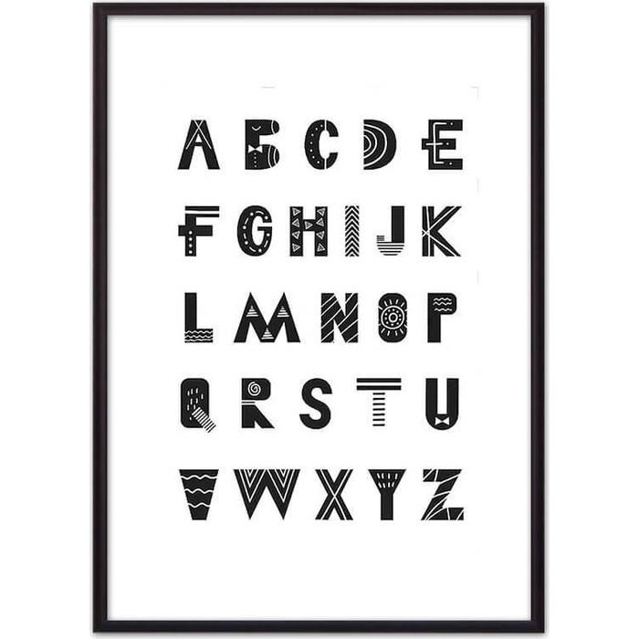 Постер в рамке Дом Корлеоне Английские буквы 40x60 см