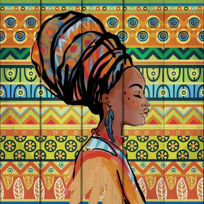 Картина на дереве Дом Корлеоне Африканка 150x150 см