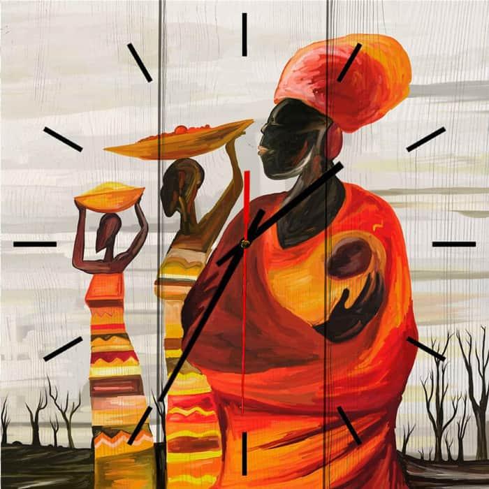 Настенные часы Дом Корлеоне Африканки 40x40 см