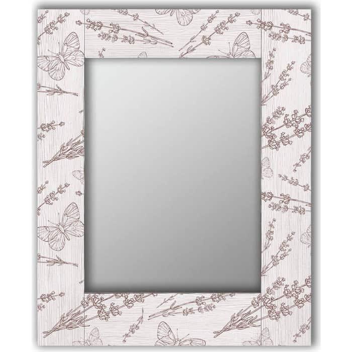 Настенное зеркало Дом Корлеоне Бабочки 65x65 см