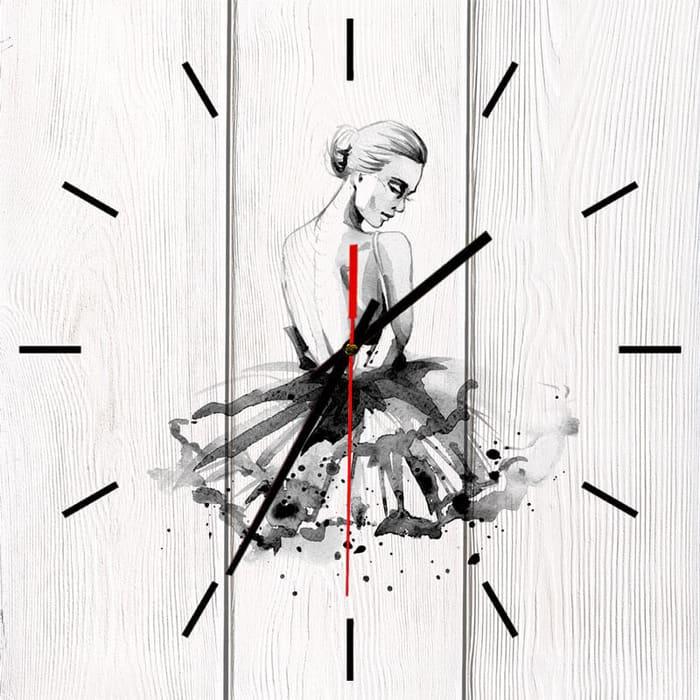 Настенные часы Дом Корлеоне Балерина 30x30 см