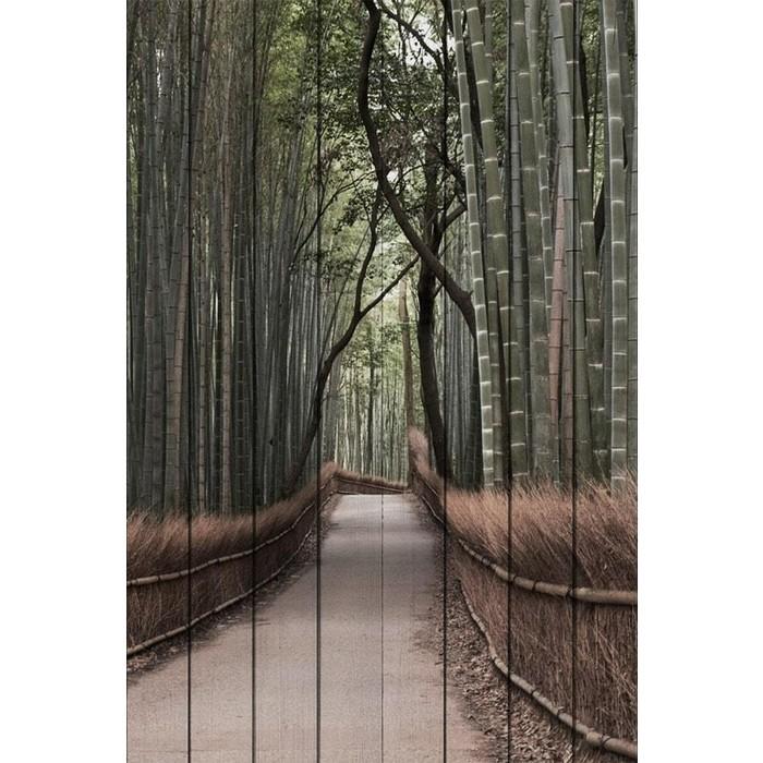 Картина на дереве Дом Корлеоне Бамбуковый лес 100x150 см