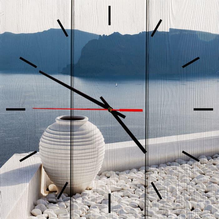 Настенные часы Дом Корлеоне Белая ваза 50x50 см