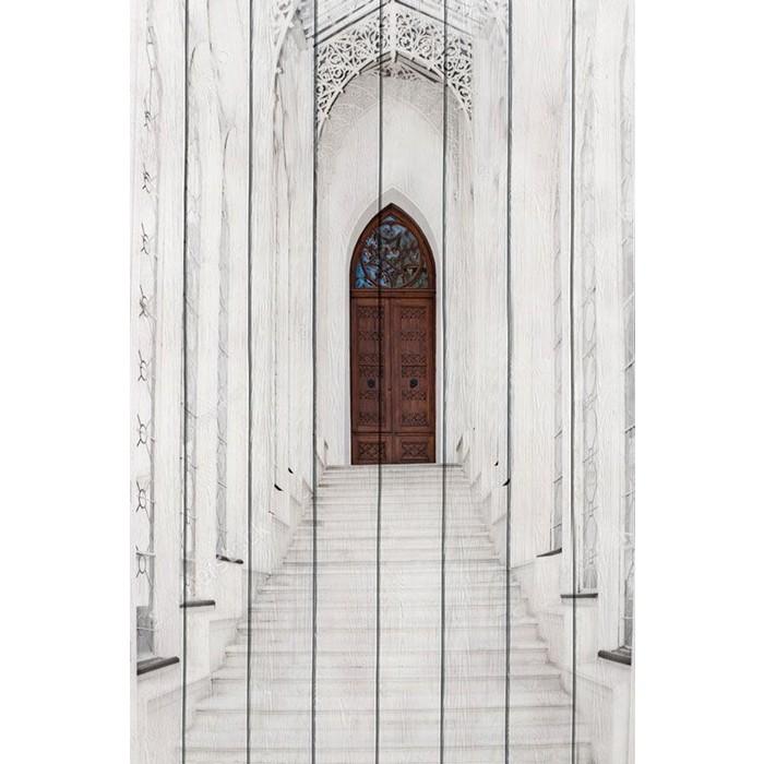 Картина на дереве Дом Корлеоне Белая лестница 80x120 см