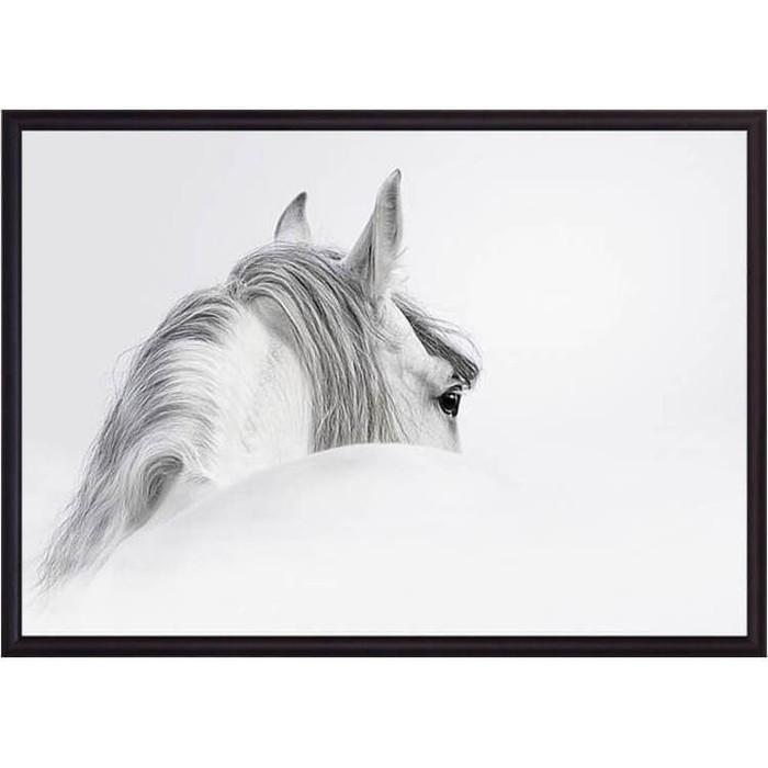 Постер в рамке Дом Корлеоне Белая лошадь 50x70 см