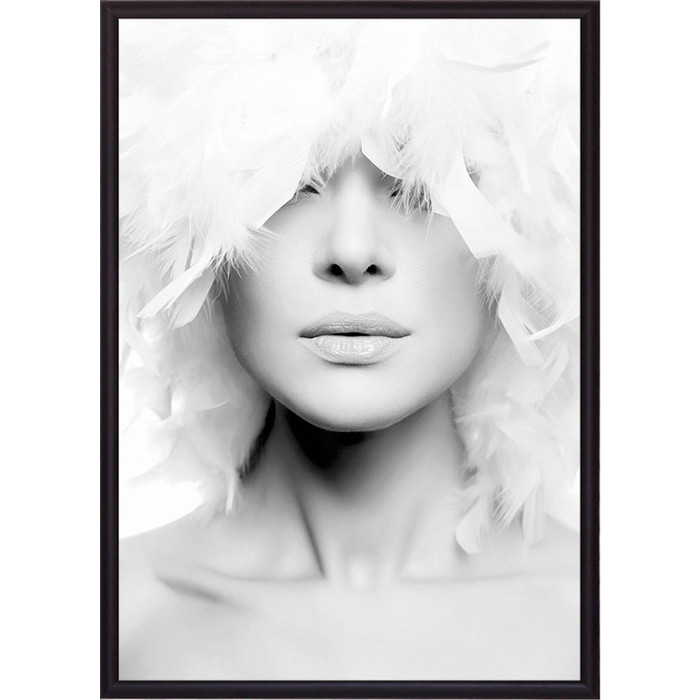 Фото - Постер в рамке Дом Корлеоне Белые перья 30x40 см постер в рамке дом корлеоне стиль 30x40 см