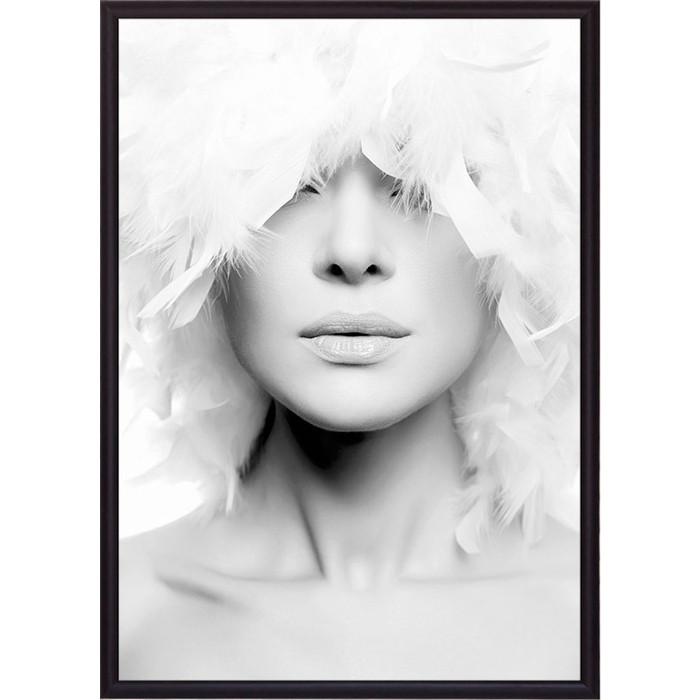 Постер в рамке Дом Корлеоне Белые перья 50x70 см