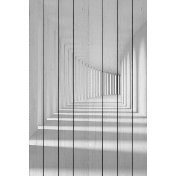 Картина на дереве Дом Корлеоне Белый коридор 100x150 см