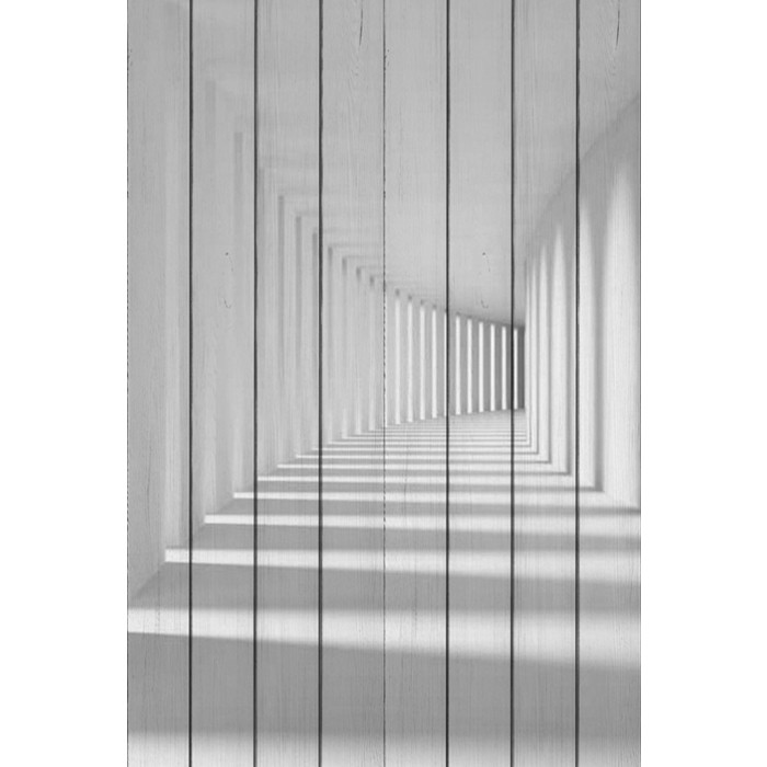Картина на дереве Дом Корлеоне Белый коридор 80x120 см