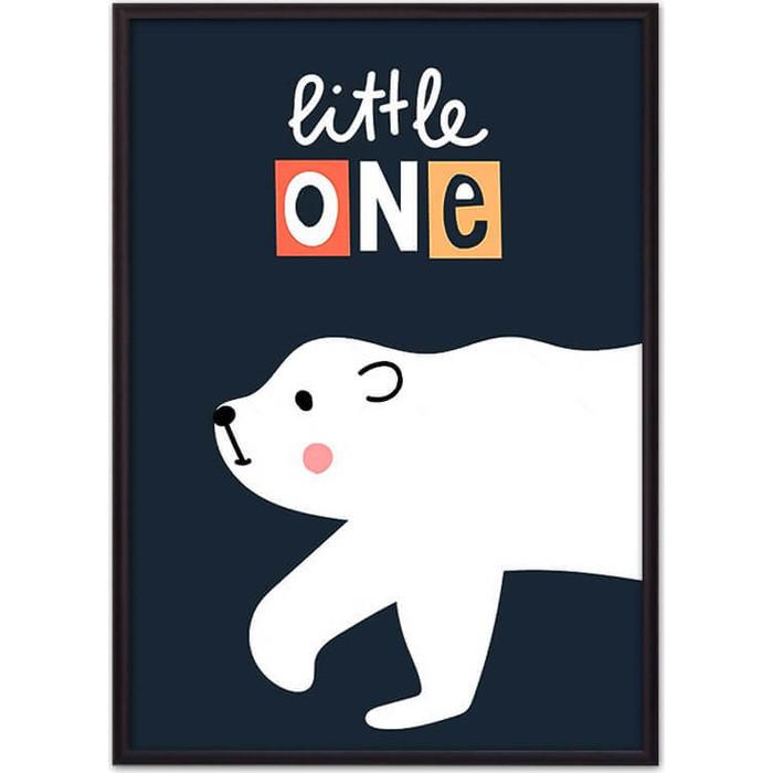 Постер в рамке Дом Корлеоне Белый медведь Little one 40x60 см