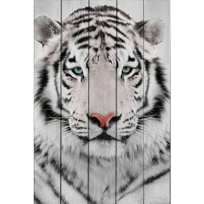 Картина на дереве Дом Корлеоне Белый тигр 60x90 см