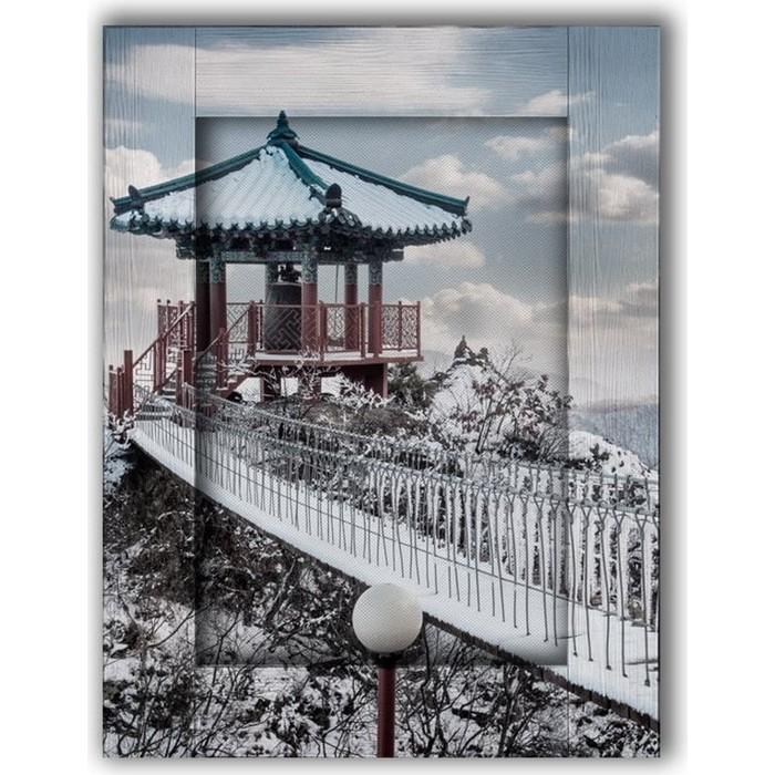 Картина с арт рамой Дом Корлеоне Беседка на горе 60x80 см
