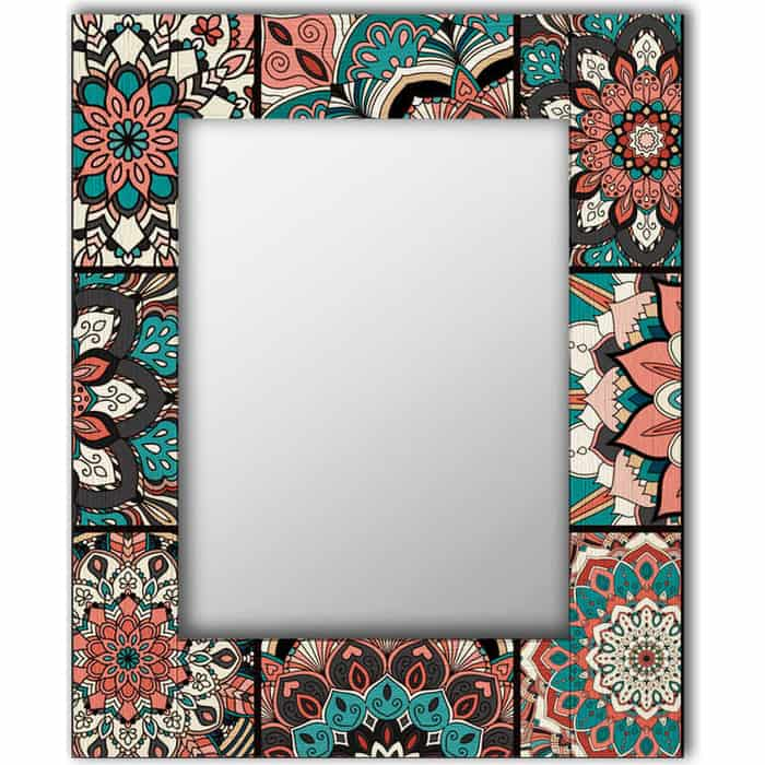 Настенное зеркало Дом Корлеоне Бохо Шик 55x55 см