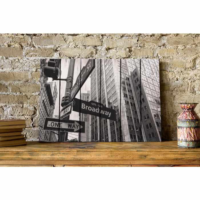 Картина на дереве Дом Корлеоне Бродвей 100x150 см