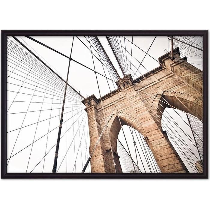 Постер в рамке Дом Корлеоне Бруклинский мост 50x70 см