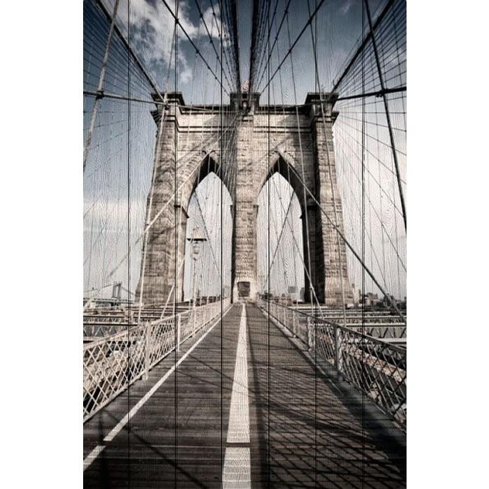 Картина на дереве Дом Корлеоне Бруклинский мост 100x150 см