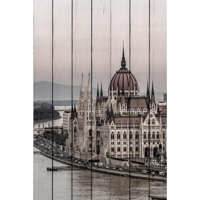 Картина на дереве Дом Корлеоне Будапешт 100x150 см
