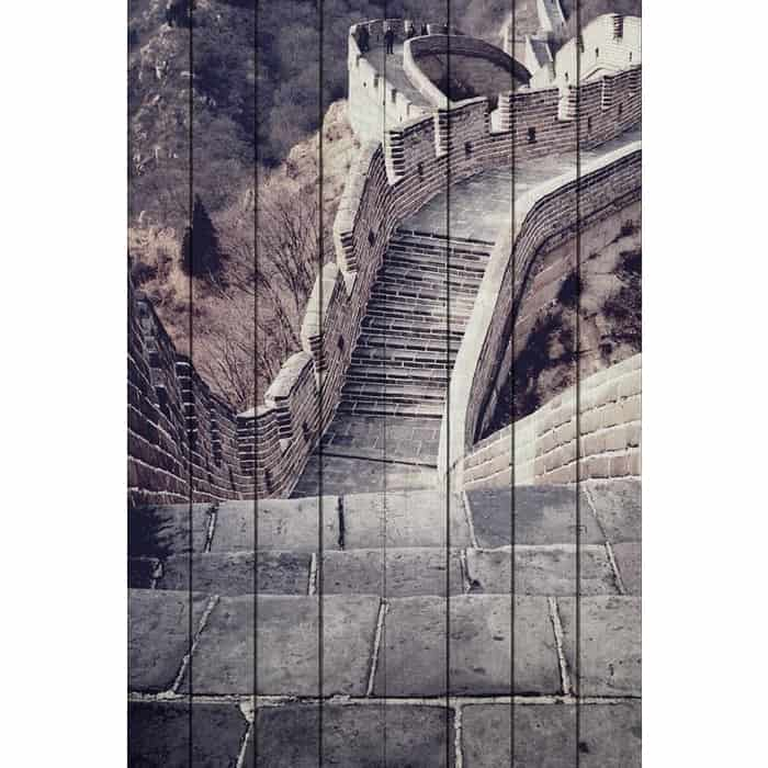 Картина на дереве Дом Корлеоне Великая стена 100x150 см