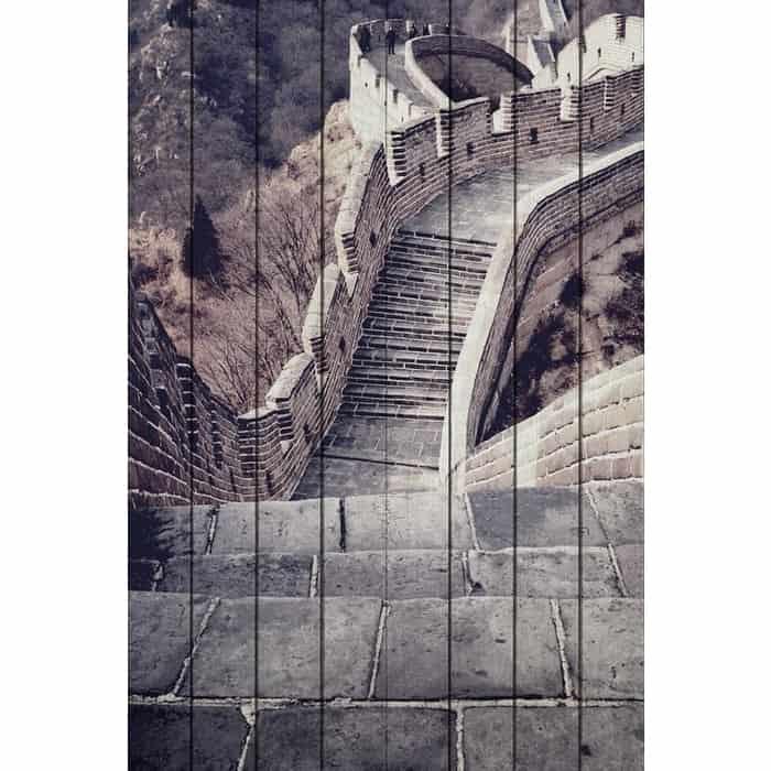 Картина на дереве Дом Корлеоне Великая стена 80x120 см