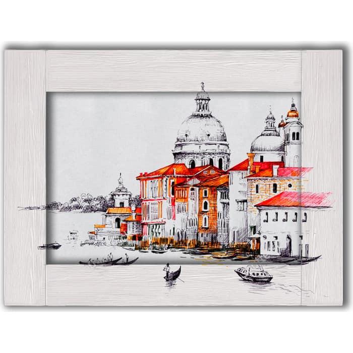 Картина с арт рамой Дом Корлеоне Венеция 70x90 см