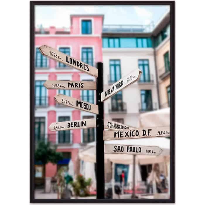Постер в рамке Дом Корлеоне Верстовой столб 50x70 см