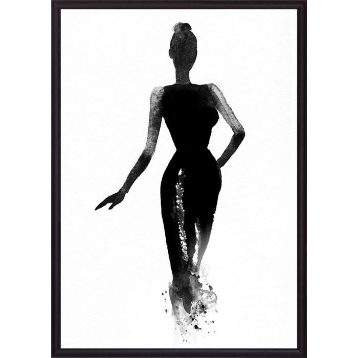 Постер в рамке Дом Корлеоне Вечернее платье Акварель 50x70 см