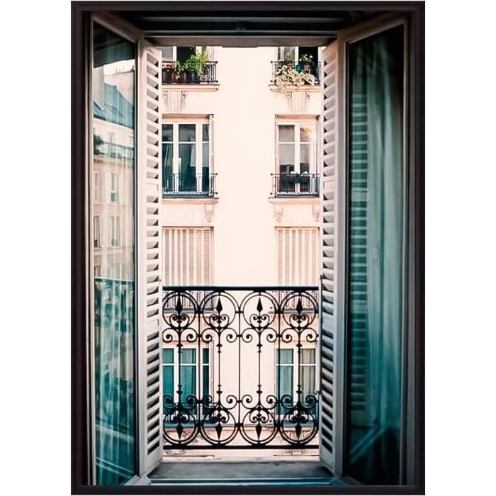 Постер в рамке Дом Корлеоне Вид из окна Париж 30x40 см