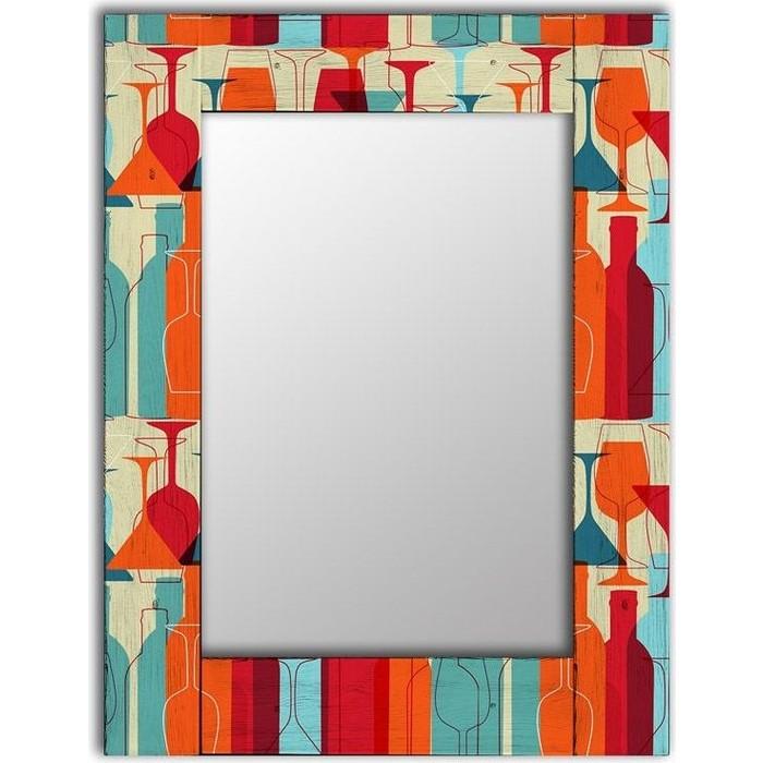 Настенное зеркало Дом Корлеоне Винный квартал 60x60 см настенное зеркало дом корлеоне весенние цветы 60x60 см