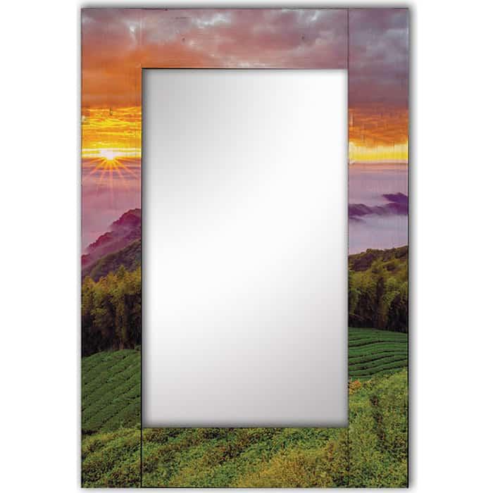 Настенное зеркало Дом Корлеоне Виноградные просторы 75x110 см