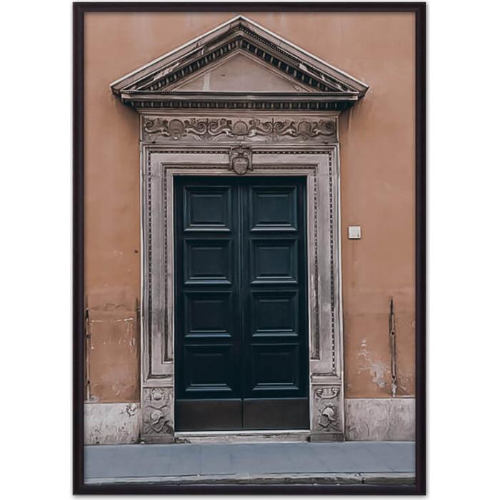 Постер в рамке Дом Корлеоне Винтажная дверь 50x70 см