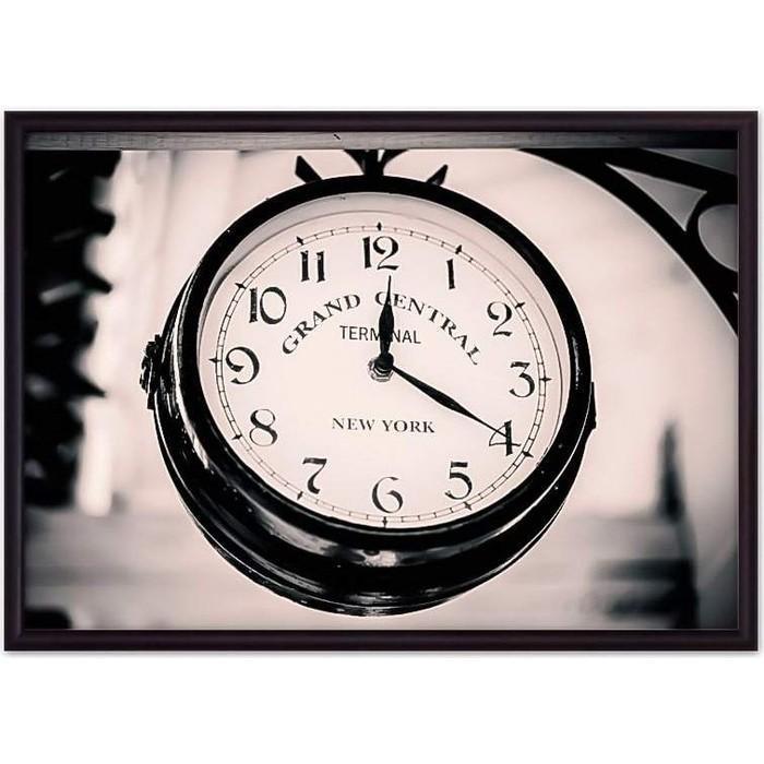 Постер в рамке Дом Корлеоне Винтажные часы 40x60 см