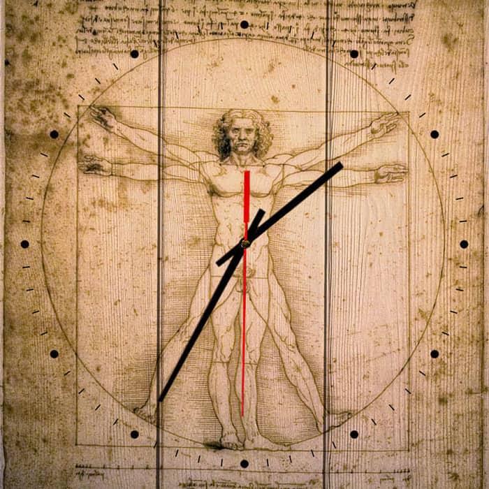 Настенные часы Дом Корлеоне Витрувианский человек 30x30 см