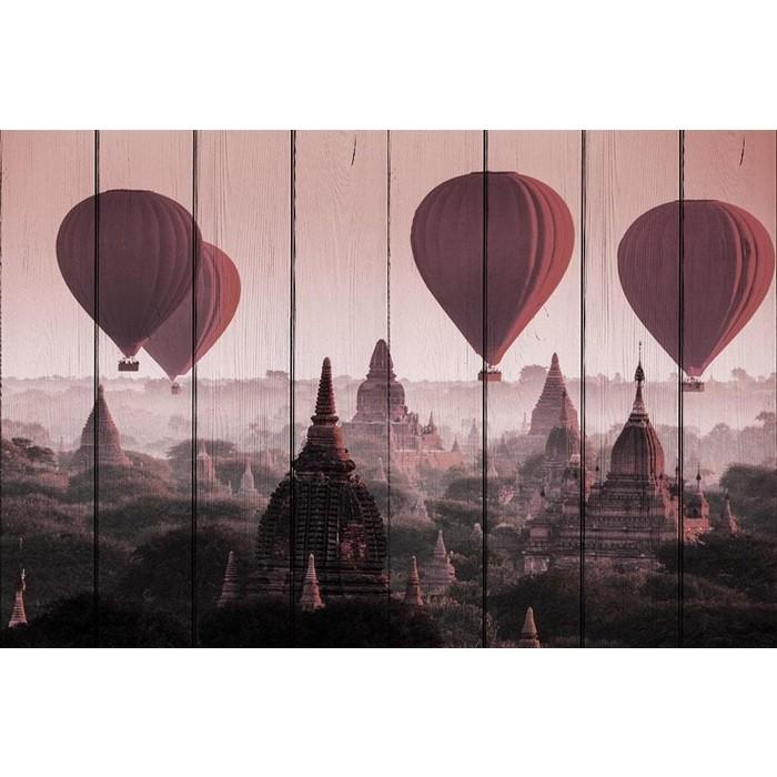 Картина на дереве Дом Корлеоне Воздушные шары 100x150 см