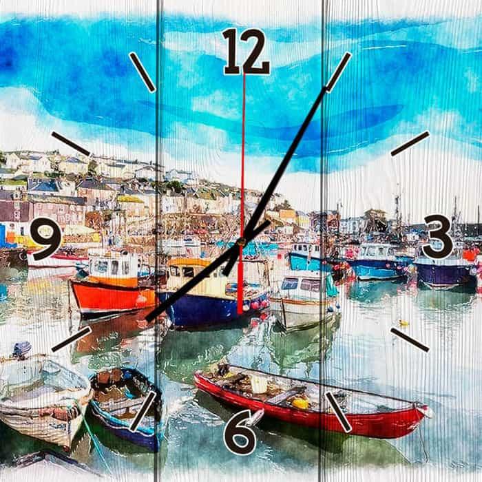 Настенные часы Дом Корлеоне Гавань Корнуолл 50x50 см