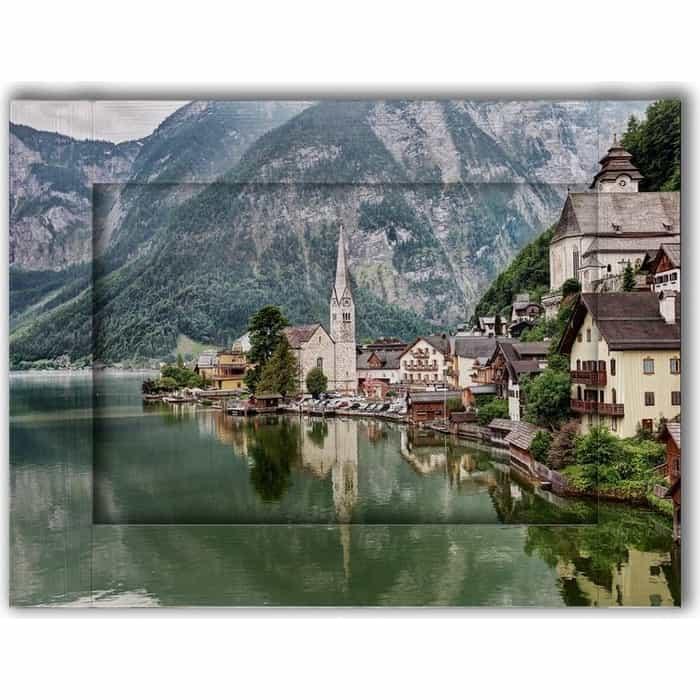 Картина с арт рамой Дом Корлеоне Гальштат Австрия 70x90 см
