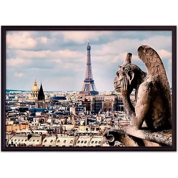 Постер в рамке Дом Корлеоне Гаргулья Париж 50x70 см постер в рамке дом корлеоне метро париж 50x70 см